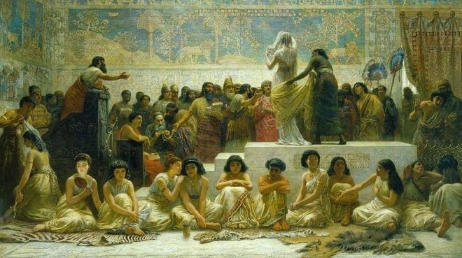 سوق الزواج البابلي
